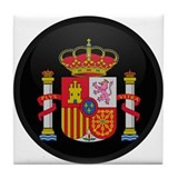 Coat of Arms of Spain Tile Coaster