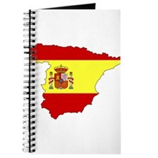 Spain Flag Map Journal