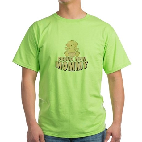 New Mommy Baby Girl Green T-Shirt