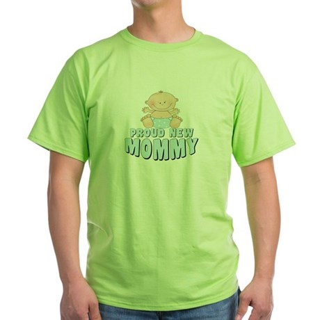 New Mommy Baby Boy Green T-Shirt