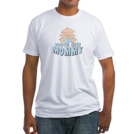 New Mommy Baby Boy Fitted T-Shirt