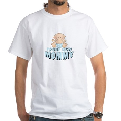 New Mommy Baby Boy White T-Shirt