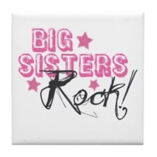 Big Sisters Rock Tile Coaster