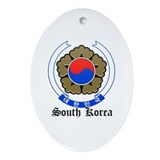 Korean Coat of Arms Seal Oval Ornament