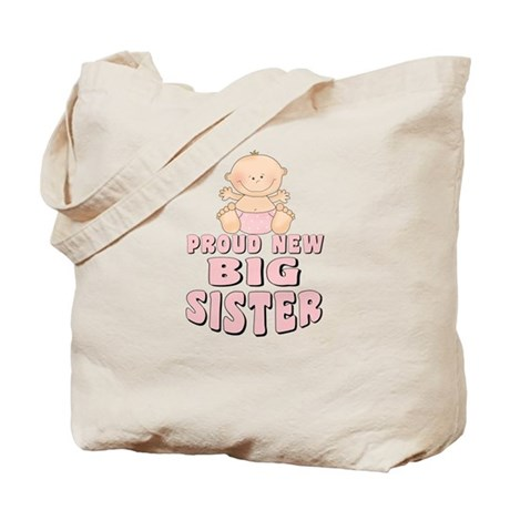 New Big Sister Baby Girl Tote Bag