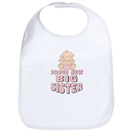 New Big Sister Baby Girl Bib