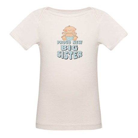 New Big Sister Baby Boy Organic Baby T-Shirt