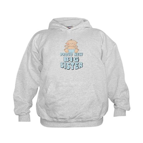 New Big Sister Baby Boy Kids Hoodie