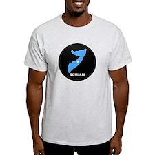 Flag Map of somalia T-Shirt