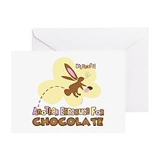 Eggscuse For Chocolate Greeting Card