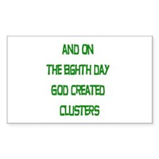 8th day God created... Rectangle Decal