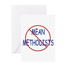 No Mean Methodists Greeting Card
