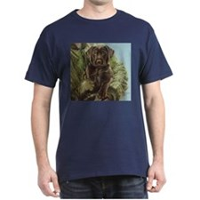 Chocolate Lab Puppy Black T-Shirt