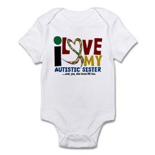 I Love My Autistic Sister 2 Infant Bodysuit
