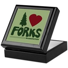 I Heart Forks, WA - Twilight Keepsake Box