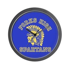 Forks High Spartans - Twilight Wall Clock