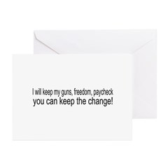 Keep The Change Greeting Cards (Pk of 10)