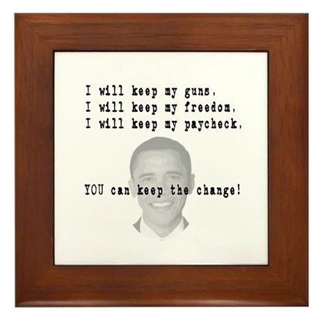 Keep the Change Framed Tile