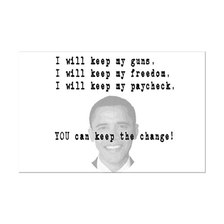 Keep the Change Mini Poster Print