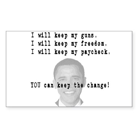 Keep the Change Rectangle Sticker 10 pk)