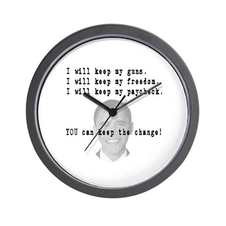 Keep the Change Wall Clock