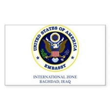 US Embassy - Baghdad Rectangle Decal