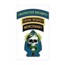 Private Security Contractor Rectangle Decal
