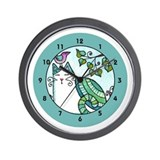 BIRD BRAIN No.1...Children's Cat Wall Clock