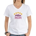 5-star Mom Women's V-Neck T-Shirt