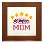 5-star Mom Framed Tile