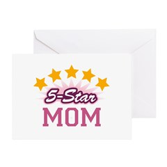 5-star Mom Greeting Card