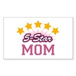 5-star Mom Rectangle Sticker 50 pk)