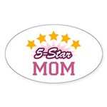 5-star Mom Oval Sticker (10 pk)