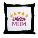 5-star Mom Throw Pillow