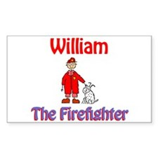 William - Firefighter Rectangle Decal