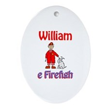 William - Firefighter Oval Ornament