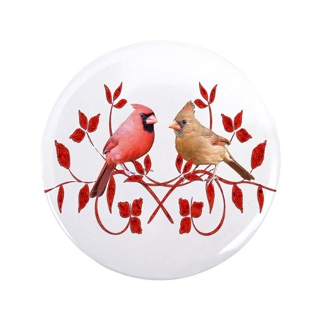 Love Birds 3.5&amp;quot; Button (100 pack)