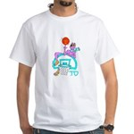 SABRA DOG(Basketball)Jewish/Israeli White T-Shirt