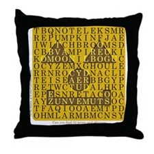 Halloween Word Search - Throw Pillow