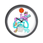 SABRA DOG(Basketball)Jewish/Israel Wall Clock