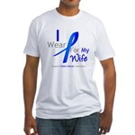Colon Cancer Wife Fitted T-Shirt