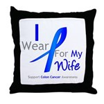 Colon Cancer Wife Throw Pillow