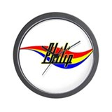 Philip's Power Swirl Name Wall Clock