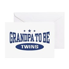 Grandpa To Be Twins Greeting Cards (Pk of 10)