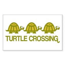 Turtle Crossing Rectangle Decal