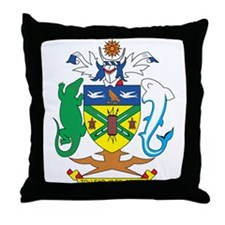 Solomon Islands Coat of Ar Throw Pillow