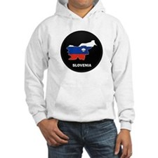 Flag Map of Slovenia Hoodie