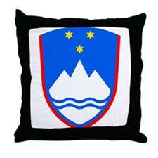 Slovenia Coat of Arms Throw Pillow
