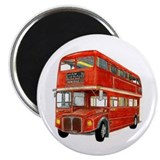 "Cute Red bus 2.25"" Magnet (100 pack)"