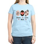 Peace Love Mud Run Women's Light T-Shirt